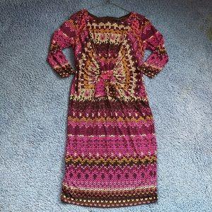 David Meister Midi-length Patterned Dress. 10 EUC